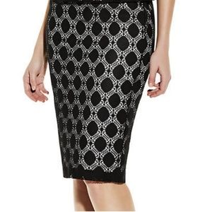 Vince Camuto Dot Lace Skirt